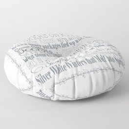 A Few of My Favorite Things - Silver Floor Pillow