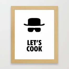 Let's Cook Framed Art Print