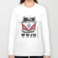 volkswagon Long Sleeve T-shirts featuring WWJD ?   What  Would Jesus Drive ? by BulldawgDUDE