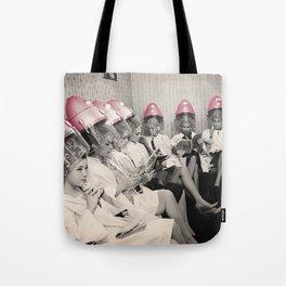 Pink Hair Dryers Vintage Tote Bag