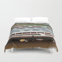 boats Duvet Covers featuring Boats by BTP Designs