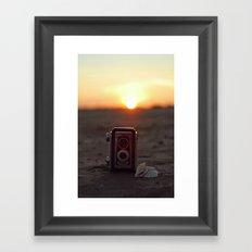 Vintage Sunset Framed Art Print