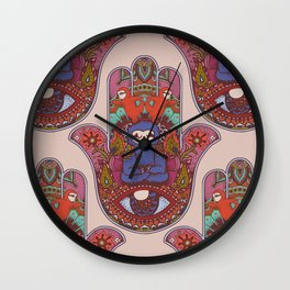 Hamsa Sloth Wall Clock