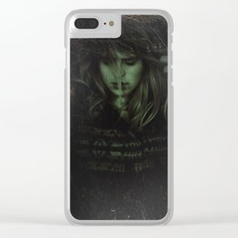 DAMNWHORE III Clear iPhone Case