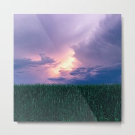 Pre-Thunderstorm Cloud Drama Metal Print
