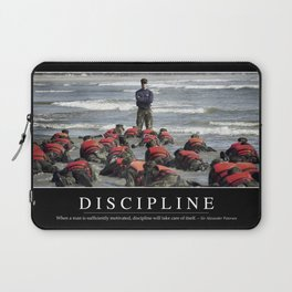 Discipline: Inspirational Quote and Motivational Poster Laptop Sleeve