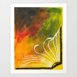 Open Book Art Print