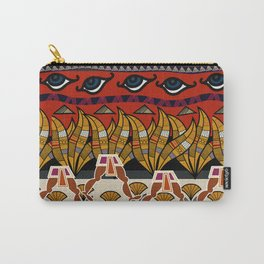 Walking Egyptian Pattern Carry-All Pouch