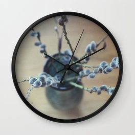 Early Signs of Spring Wall Clock