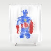 steve rogers Shower Curtains featuring Rogers Colour Bomb by Steve Paul Myers
