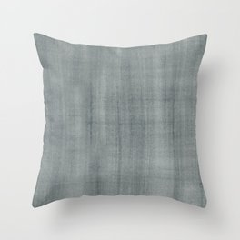 PPG Paint Night Watch Pewter Green Dry Brush Strokes Texture Pattern Throw Pillow
