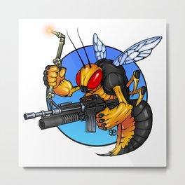 The Fighting SeaBee Metal Print