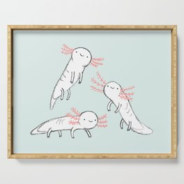 Three Little Axolotls Serving Tray