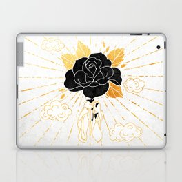 Black Rose Inktober :: Your Psyche Laptop & iPad Skin