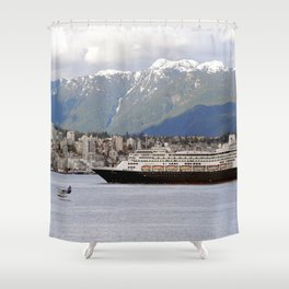 Vancouver Harbour - Canada Shower Curtain