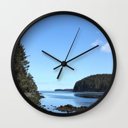 Alaskan Beach Photography Print Wall Clock