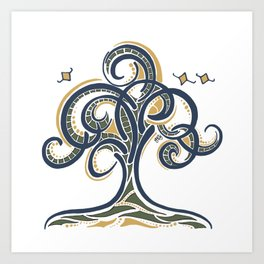 Geometric Tree Art Print