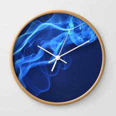 smoky blue Wall Clock