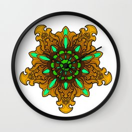 Tibetan Filigree v1 Wall Clock