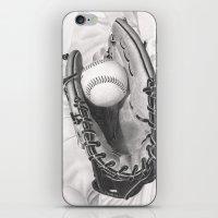 baseball iPhone & iPod Skins featuring Baseball by aurelia-art
