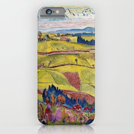 Chamonix Valley and Snow-capped French Alps landscape by Cuno Amiet iPhone Case