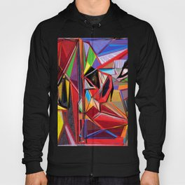 The Red Stiletto, a digital abstract artwork Hoody