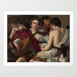 Caravaggio's The Musicians Art Print