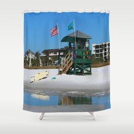Welcome To Siesta Key Beach Shower Curtain