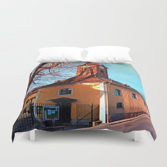 The village church of Waxenberg Duvet Cover