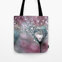 sparkles Tote Bags featuring Rasberry Sparkles by Sharon Johnstone