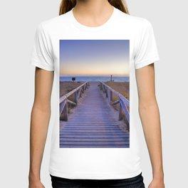 The path..., the beach.... T-shirt