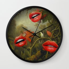 JUNGLE OF THE CARNIVORES Wall Clock