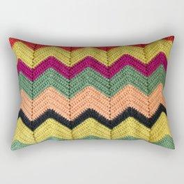 Rainbow Chevron Afghan Rectangular Pillow