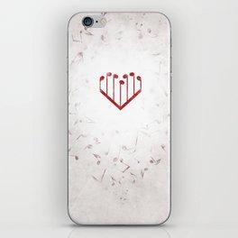 Music Heart gray iPhone Skin