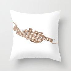 Telluride Colorado Map Throw Pillow