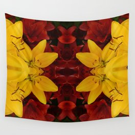 """""""A Gathering of Lilies"""" Remix - 2 (1-1) [D4466~24] Wall Tapestry"""