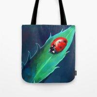 ladybug Tote Bags featuring Ladybug by Freeminds