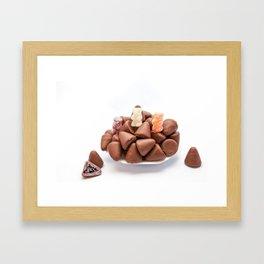 the cuberdons chocolate Framed Art Print