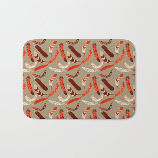 Flying Feathers Bath Mat