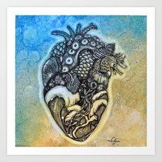 Ocean Heart Art Print