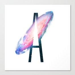 Galaxy Alphabet A Canvas Print