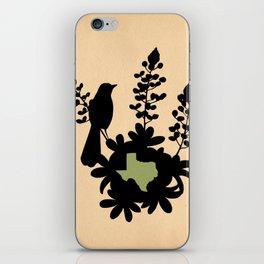 Texas - State Papercut Print iPhone Skin