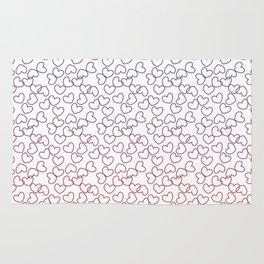 Hearts& hearts pattern (multicolor) Rug