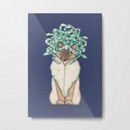 Medusa Cat Metal Print