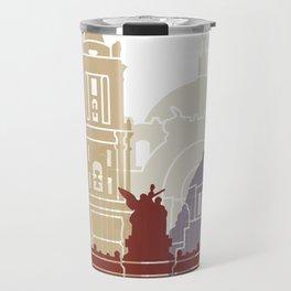 Mexico city skyline poster Travel Mug