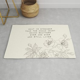 what is stronger than the human heart - R. Kaur Collection Rug
