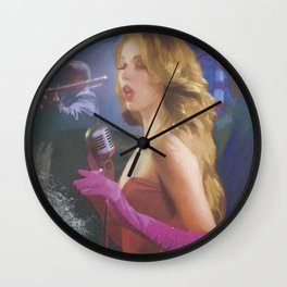 lady sings the blues Wall Clock