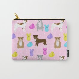 Pitbull dog breed peeps marshmallow easter spring dog pattern gifts pibble Carry-All Pouch