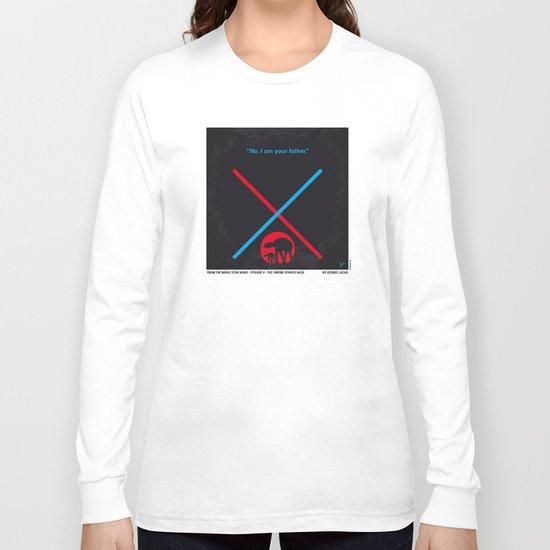 No155 My STAR Episode V The Empire Strikes Back WARS minimal movie poster Long Sleeve T-shirt