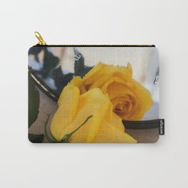 Single Yellow Rose of Texas Carry-All Pouch